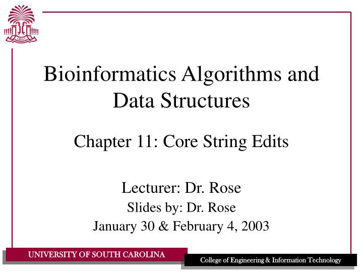 bioinformatics algorithms and data structures n.