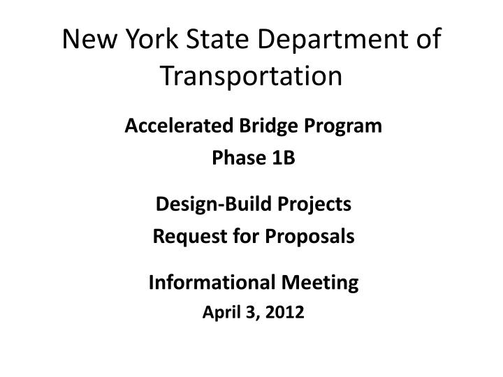 new york state department of transportation n.