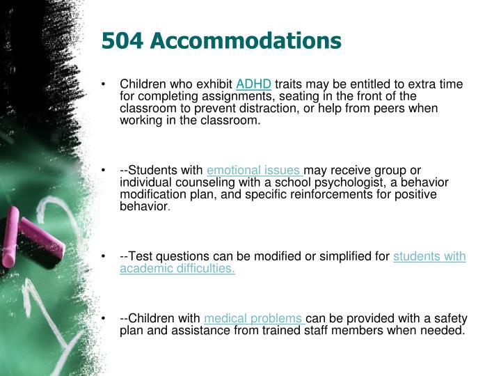 504 Accommodations