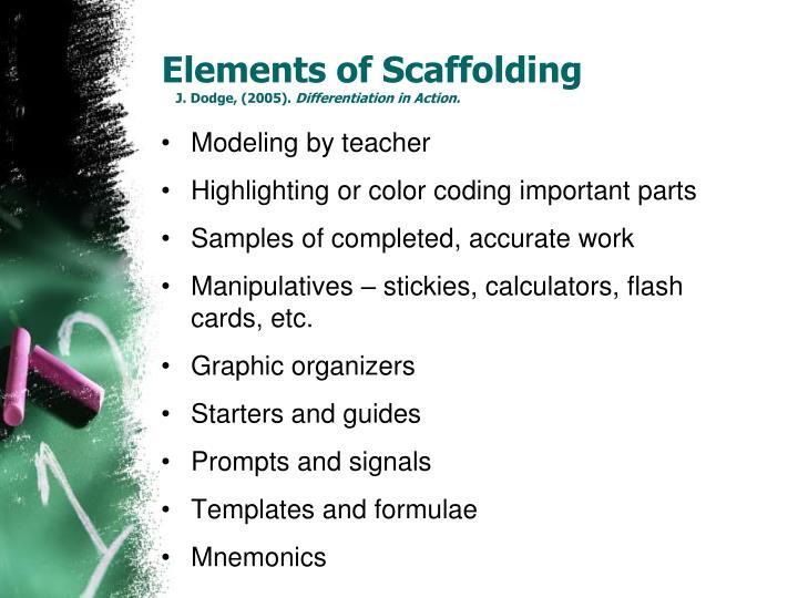 Elements of Scaffolding