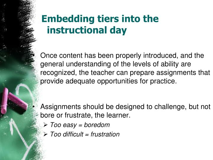 Embedding tiers into the