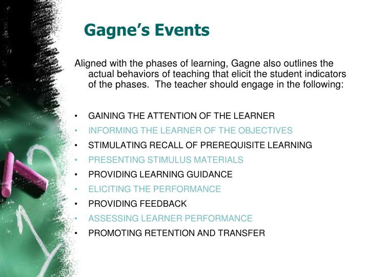Gagne's Events