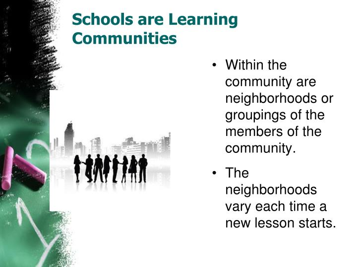 Schools are Learning Communities