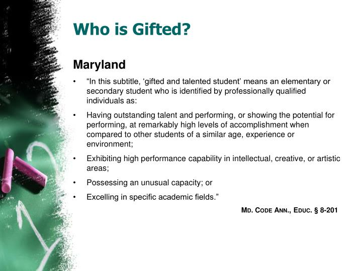 Who is Gifted?
