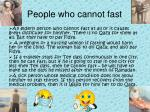 people who cannot fast
