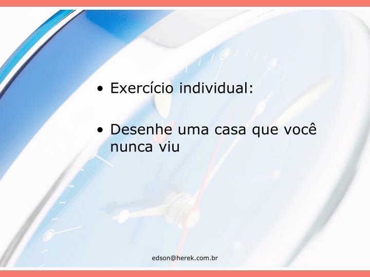 Exercício individual: