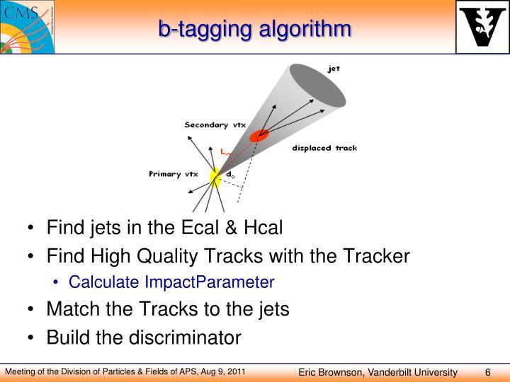 b-tagging algorithm