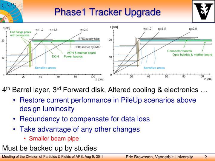 Phase1 tracker upgrade