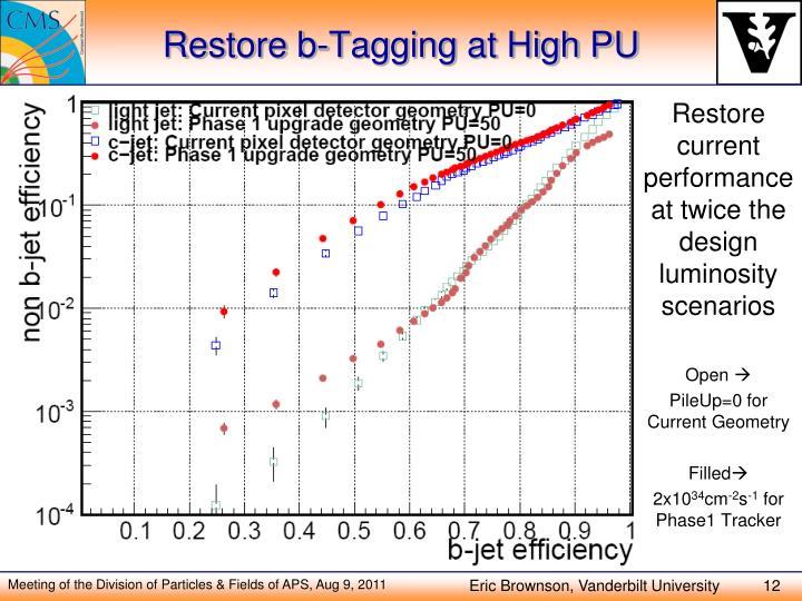 Restore b-Tagging at High PU