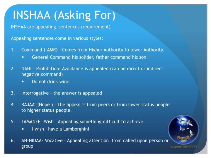 INSHAA (Asking For)
