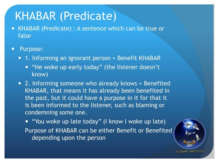 KHABAR (Predicate)
