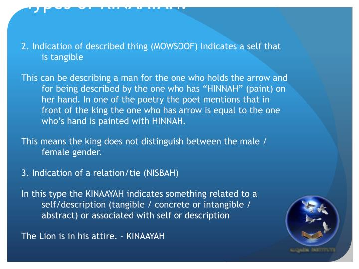 Types of KINAAYAH: