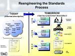 reengineering the standards process