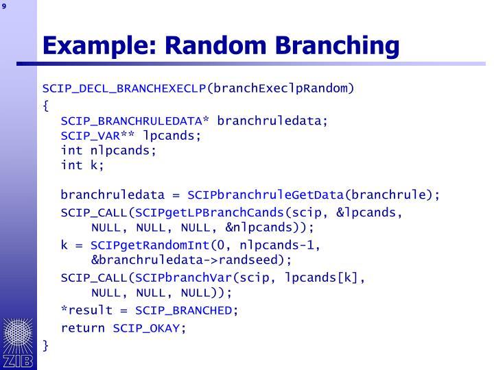 Example: Random Branching