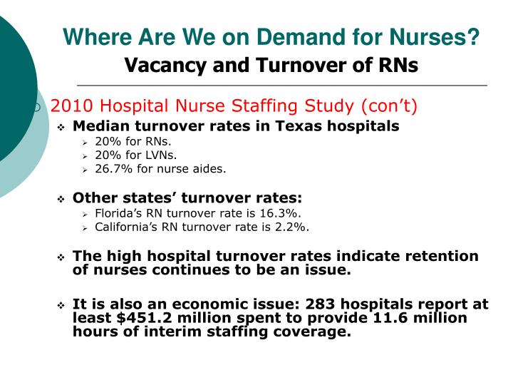 high turnover rate in long term care in nursing In nursing homes with high turnover rates, certified nursing assistants tend to leave within three cna turnover, cnas, long term care, nursing assistants.