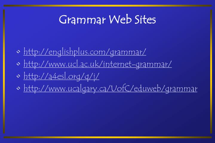 Grammar Web Sites