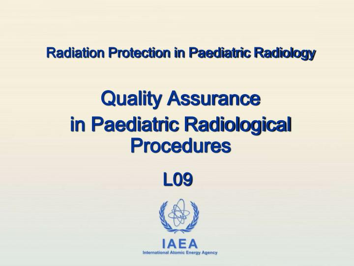 quality assurance in radiologic technology