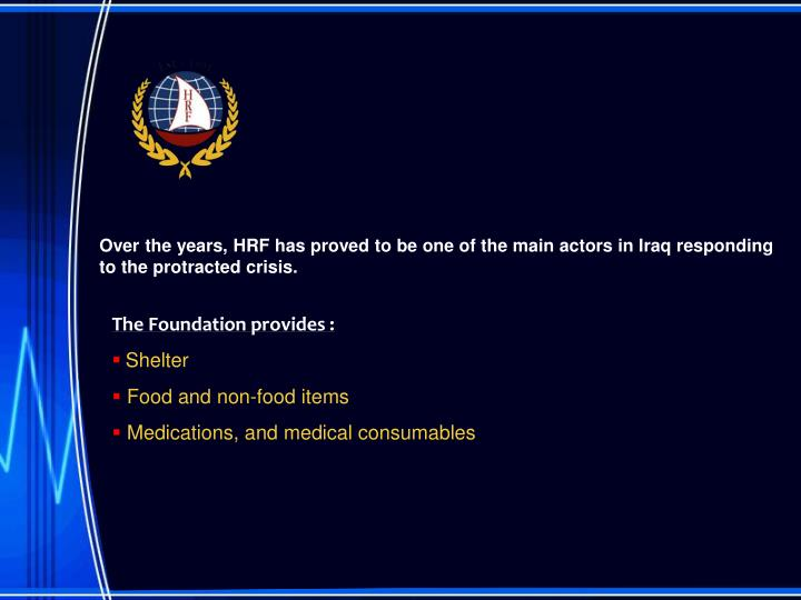 Over the years, HRF has proved to be one of the main actors in Iraq responding to the protracted crisis.