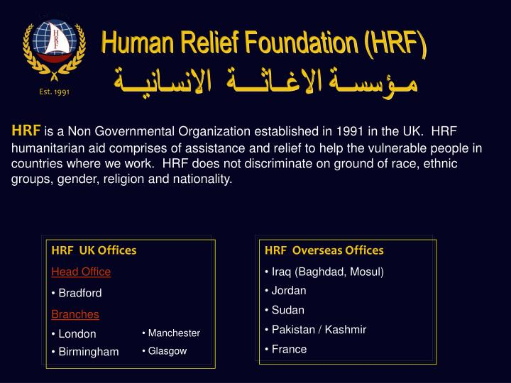 Human Relief Foundation (HRF)