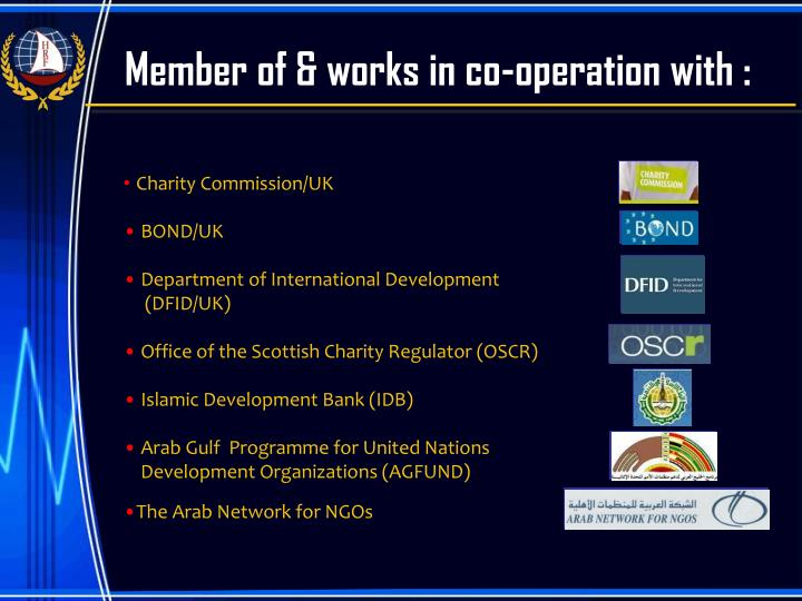 Member of & works in co-operation with :