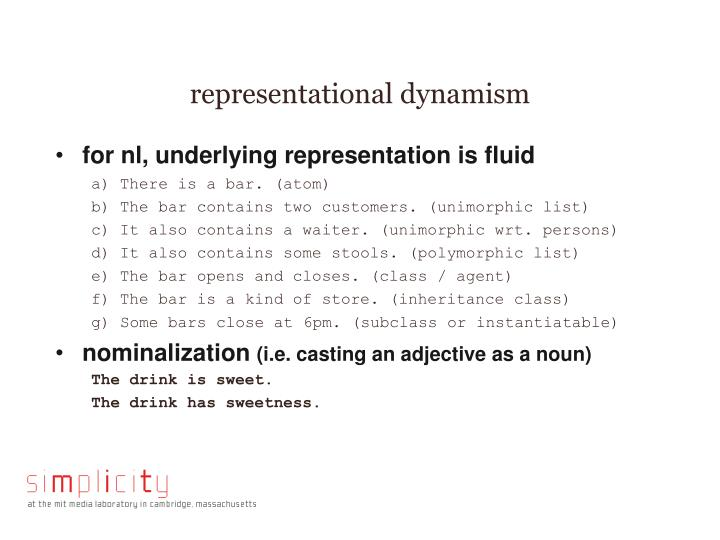 representational dynamism