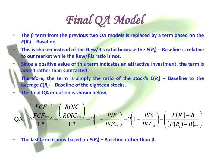 Final QA Model
