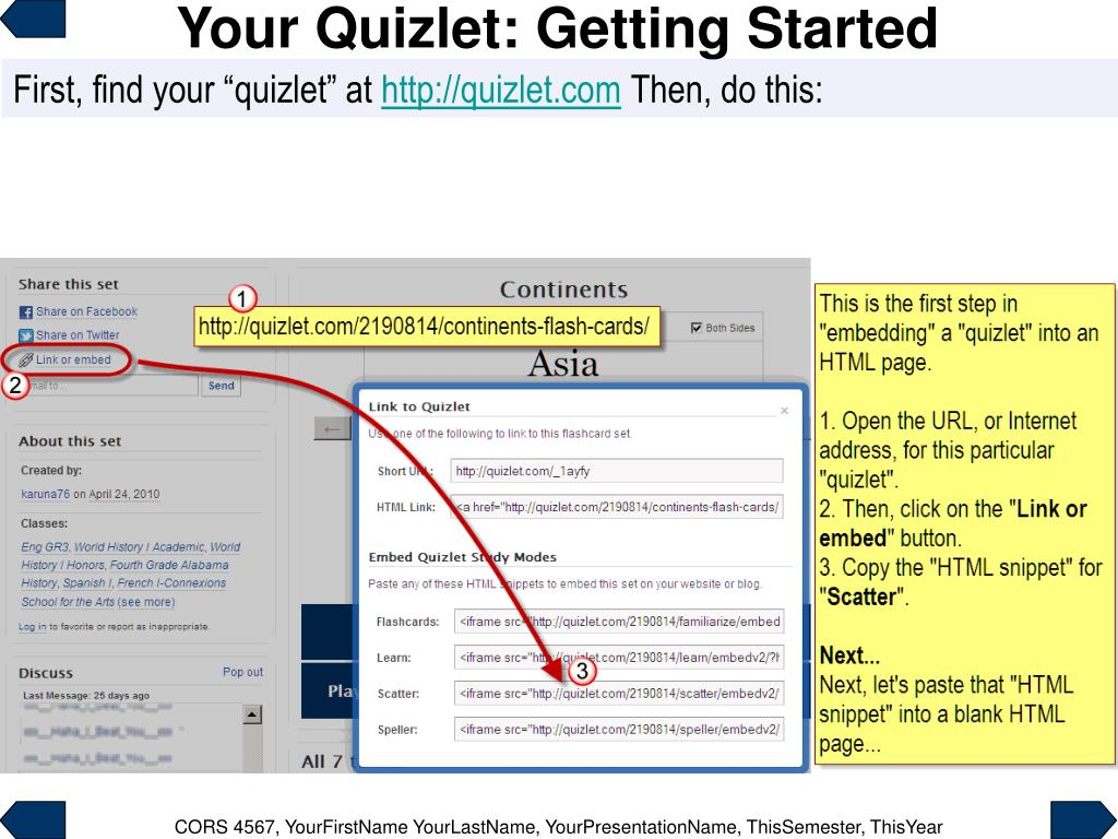 "PPT - Your Embedded ""Quizlet"" PowerPoint Presentation - ID"