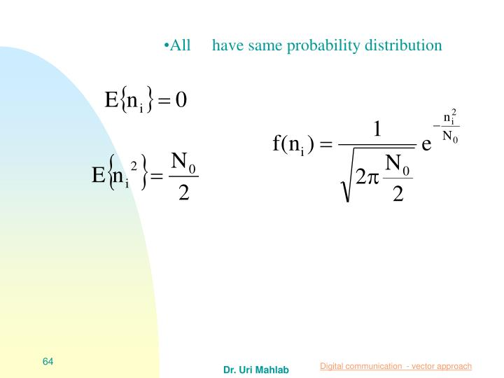 All     have same probability distribution