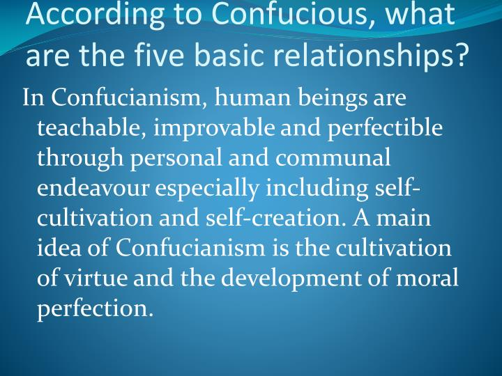 Confucianism 5 main relationships dating 1