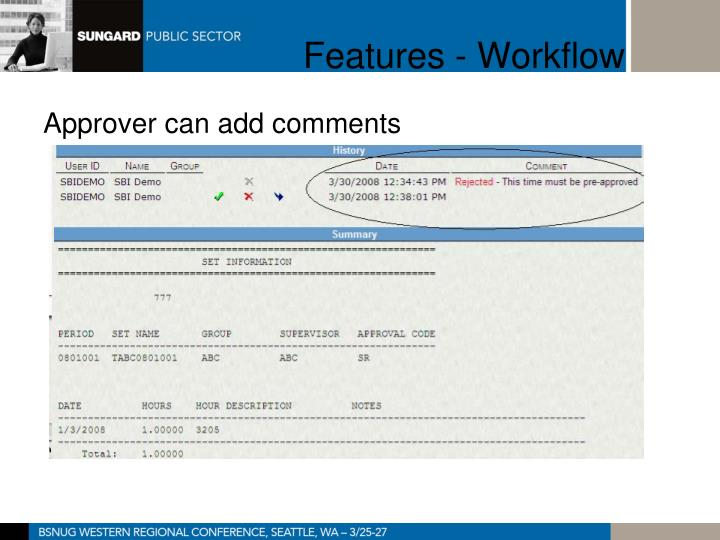 Features - Workflow