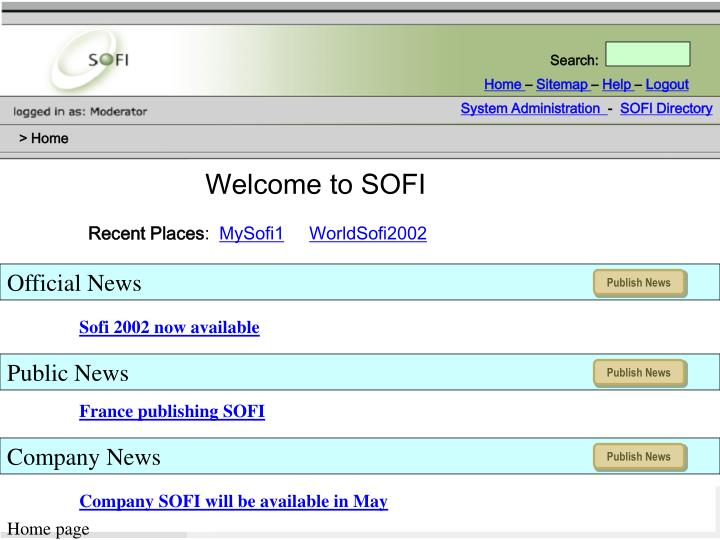 Welcome to SOFI