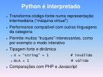 python interpretado