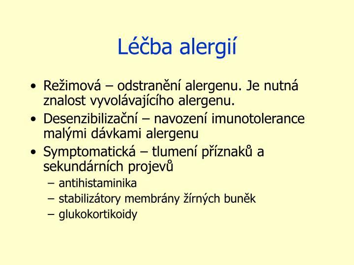 Léčba alergií
