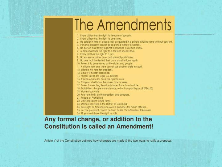 Ppt The Constitution Amp The Amendment Process Powerpoint