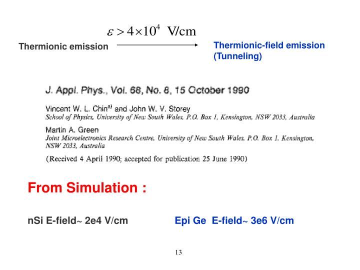 Thermionic-field emission (Tunneling)