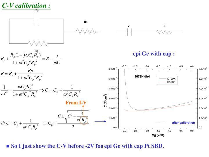 C-V calibration :