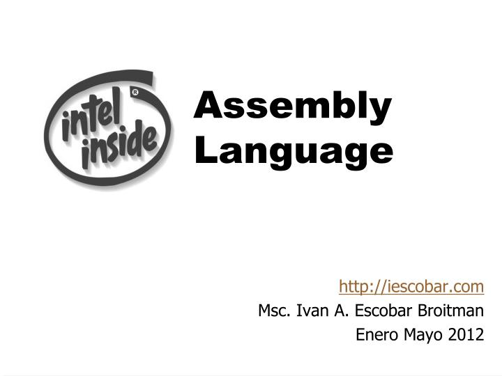 assembly language n.