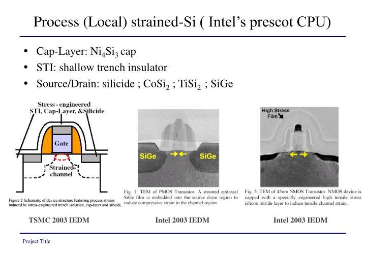 Process (Local) strained-Si ( Intel's prescot CPU)