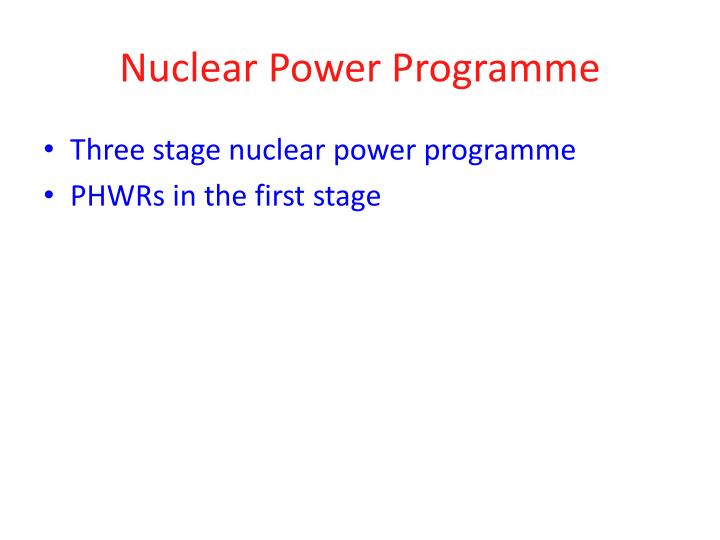 Nuclear Power Programme