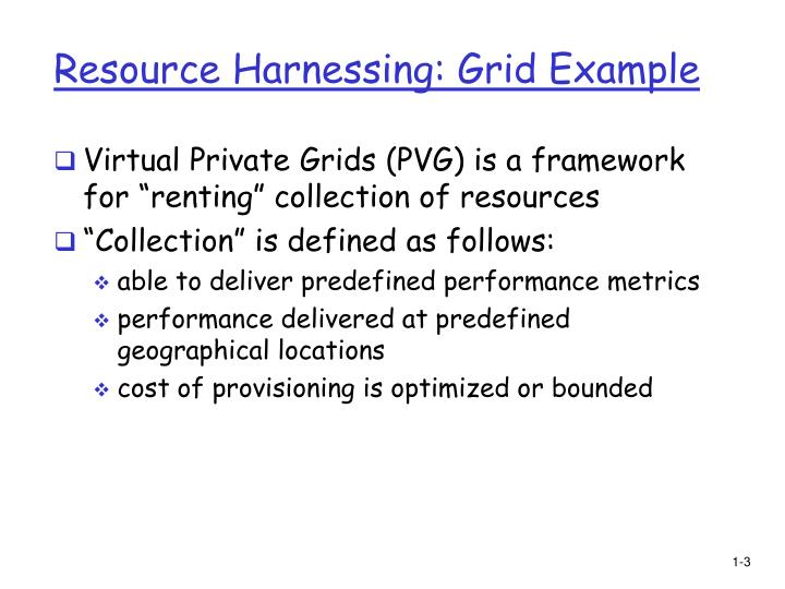 Resource harnessing grid example