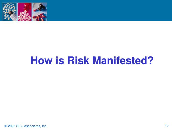How is Risk Manifested?