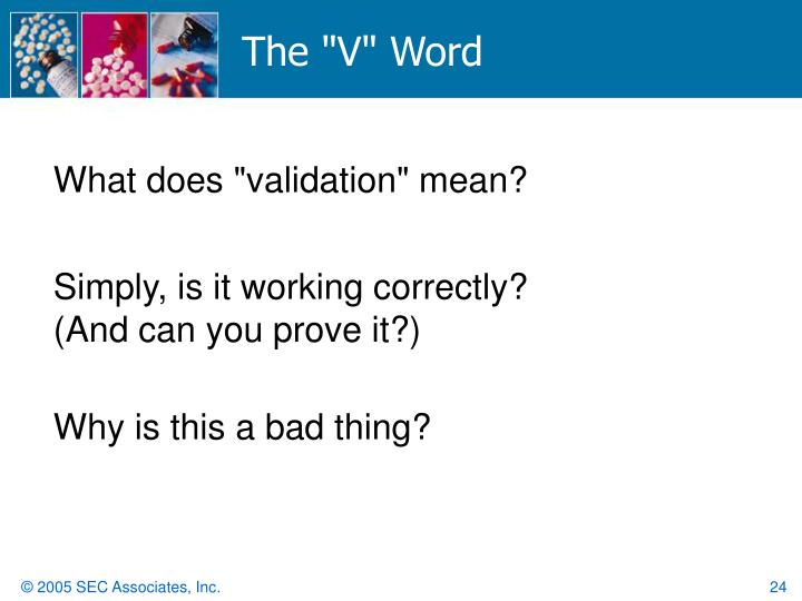 """The """"V"""" Word"""