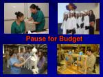 pause for budget