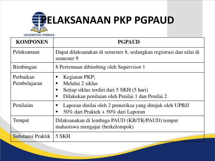 Pelaksanaan pkp pgpaud