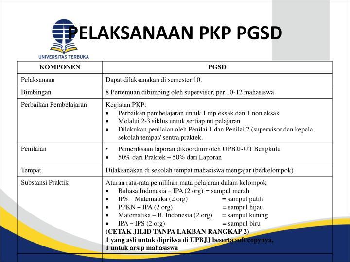 PELAKSANAAN PKP PGSD