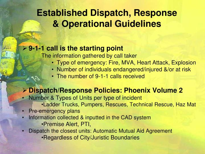 Established Dispatch, Response