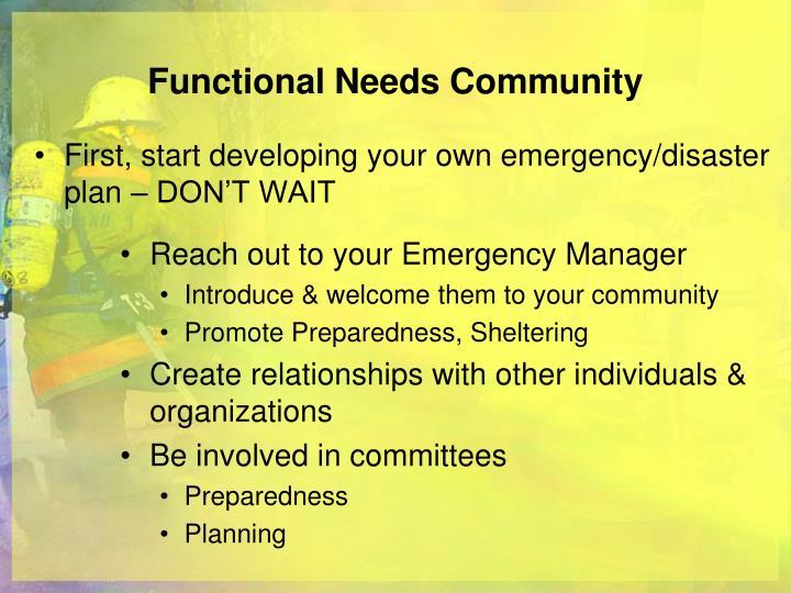 Functional Needs Community
