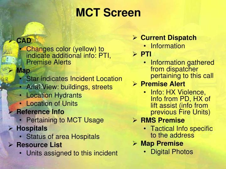 MCT Screen