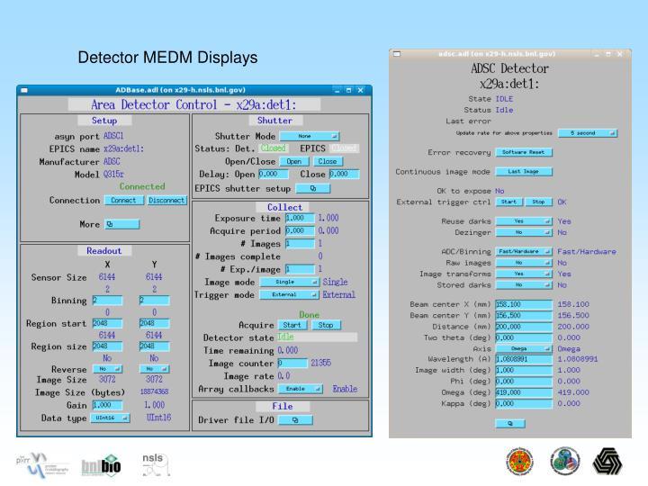 Detector MEDM Displays