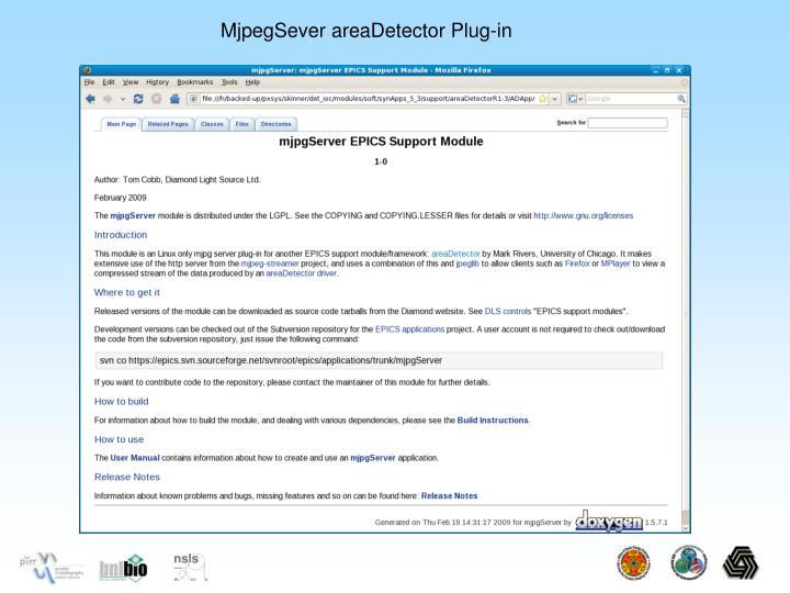 MjpegSever areaDetector Plug-in